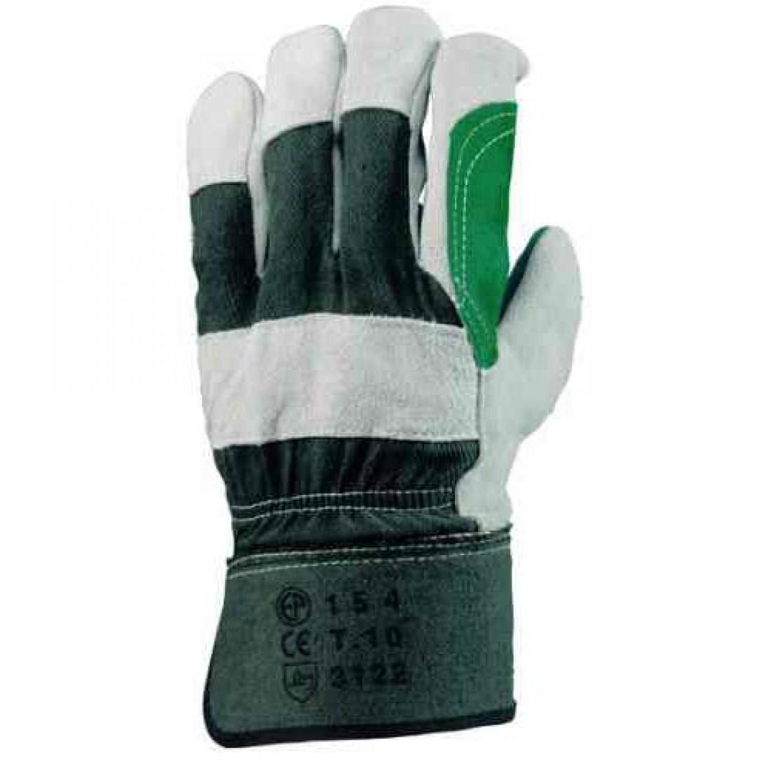 04b87cf515 Γκρι - Πράσινα Δερμάτινα Γάντια DOCKERS