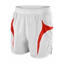 Unisex Αθλητικό Σόρτς Micro Lite Running Spiro, S183X λευκό/κόκκινο Παντελόνια - Κολάν Ενδυση Εργασιας - nolimit.gr