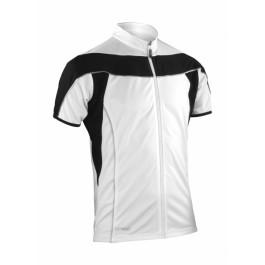 Αθλητική Ζακέτα με Φερμουάρ Bike Spiro, S188M λευκό/μαύρο Μπλούζες Ενδυση Εργασιας - nolimit.gr
