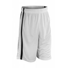 Ανδρικό Αθλητικό Σορτς Μπάσκετ -στεγνώνει εύκολα- Spiro, S279M λευκό/μαυρο Παντελόνια - Κολάν Ενδυση Εργασιας - nolimit.gr