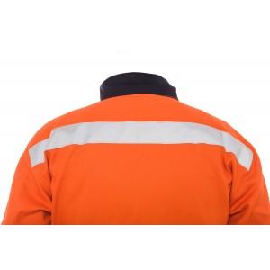 Ενδυση Εργασιας - Φόρμα εργασίας ολόσωμη βαμβακερή, με λεπτομέρειες και ανακλαστική ταινία No Limit, 71118002 Φόρμες Ολόσωμες Ενδυση Εργασιας - nolimit.gr