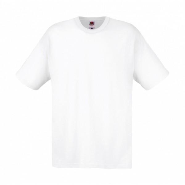Ενδυση Εργασιας - Ανδρικό Μπλουζάκι Fruit of the Loom, Original Full Cut λευκό T-Shirts Ενδυση Εργασιας - nolimit.gr