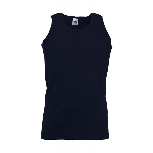 T-shirts - Αμάνικο Μπλουζάκι Fruit Of The Loom, VALUEWEIGHT 61-098-0 μπλε navy deep T-Shirts nolimit.gr