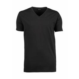 T-shirts - t-shirts - Ανδρικό Stretch V-Tee Tee Jays, 401 γκρί σκούρο T-Shirts nolimit.gr