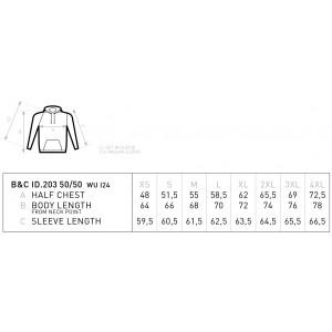 Unisex Φούτερ με Κουκούλα B&C, ID.203 50/50 Φούτερ Ενδυση Εργασιας - nolimit.gr