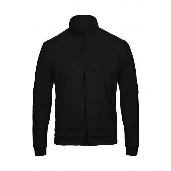 Μπλουζες - Μπλούζα Με Φερμουάρ 50/50 Unisex B&C, ID.206 μαύρη Μπλούζες nolimit.gr
