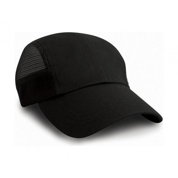 σκουφοι - καπελα - Καπέλο Σπορ Με Πλέγμα Result Headwear, RC047X μαύρο Καπέλα- Σκούφοι Ενδυση Εργασιας - nolimit.gr