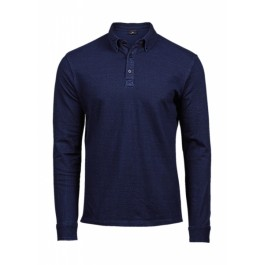 Μπλουζες - Μπλουζακια Πολο - Ανδρικό Πόλο Ελαστικό Fashion LS Luxury Tee Jays, 1412 denim μπλε nolimit.gr