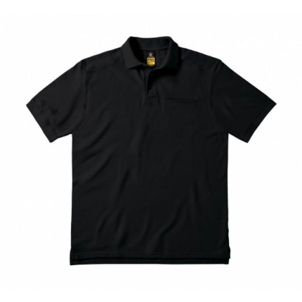 Μπλουζάκι Εργασίας Πόλο Με Τσέπη B&C, SKILL PRO PUC10 μαύρο Κοντομάνικα Ενδυση Εργασιας - nolimit.gr