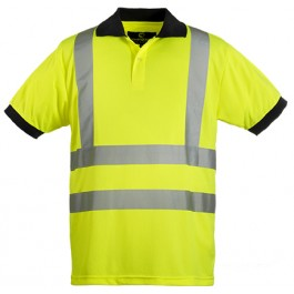 Ενδυση Εργασιας - Μπλουζάκι Πόλο Κοντομάνικο Hi-Viz Coverguard YARD με ανακλαστικές 3M, 70270 κίτρινο Υψηλής Ορατότητας Ενδυση Εργασιας - nolimit.gr