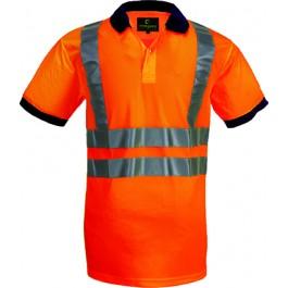Ενδυση Εργασιας - Μπλουζάκι Πόλο Κοντομάνικο Hi-Viz Coverguard YARD με ανακλαστικές 3M, 70280 πορτοκαλί Υψηλής Ορατότητας Ενδυση Εργασιας - nolimit.gr