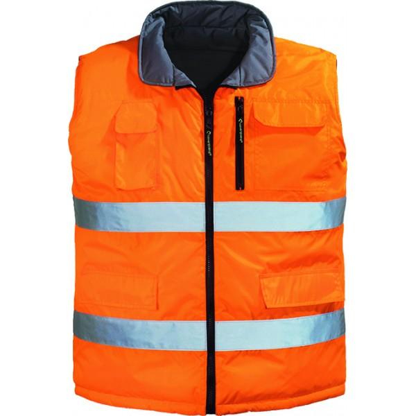 Ενδυση Εργασιας - Γιλέκο Hi-Viz Διπλής Όψης Coverguard, HI-WAY VICE-VERSA πορτοκαλί/γκρι Γιλέκα Ενδυση Εργασιας - nolimit.gr