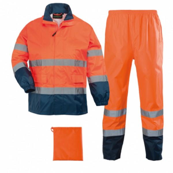 Αδιάβροχο σετ υψηλής ορατότητας Coverguard, 7HWRO πορτοκαλί/μπλε Υψηλής Ορατότητας Ενδυση Εργασιας - nolimit.gr