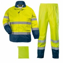 Αδιάβροχο σετ υψηλής ορατότητας Coverguard, 7HWRY κίτρινο/μπλε Υψηλής Ορατότητας Ενδυση Εργασιας - nolimit.gr