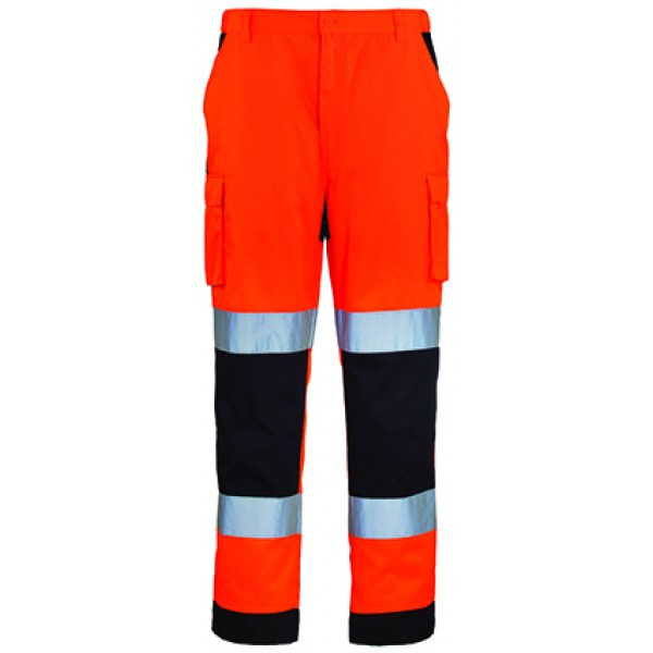 Ενδυση Εργασιας - Παντελόνι Hi-Viz Coverguard, PATROL πορτοκαλί/μπλε navy Παντελόνια Ενδυση Εργασιας - nolimit.gr