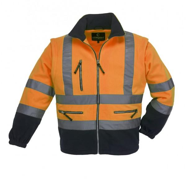 Ενδυση Εργασιας - Μπουφάν Fleece HiViz Coverguard, POLAR STATION πορτοκαλί/μπλε navy Σακάκια - Μπουφάν Ενδυση Εργασιας - nolimit.gr