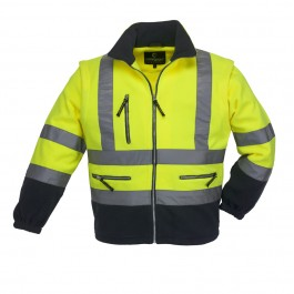 Ενδυση Εργασιας - Μπουφάν Fleece HiViz Coverguard, POLAR STATION κίτρινο/μπλε navy Σακάκια - Μπουφάν Ενδυση Εργασιας - nolimit.gr