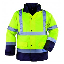 Ενδυση Εργασιας - Μπουφάν Παρκά 4 σε 1 Hi-Viz Coverguard, ROADWAY κίτρινο/μπλε navy Σακάκια - Μπουφάν Ενδυση Εργασιας - nolimit.gr