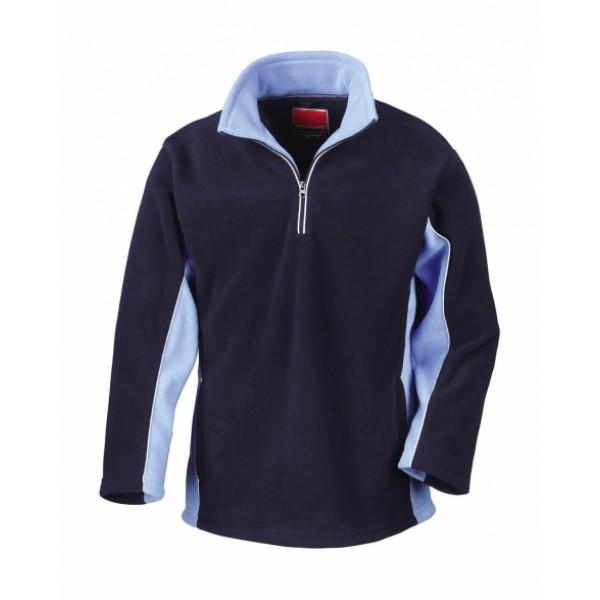 Μπλουζες - Μπλούζα Fleece Tech3™ Sport 1/4 Zip Sweater Result, R086X μπλε navy/μπλε sky nolimit.gr