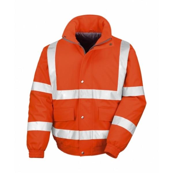 Ενδυση Εργασιας - Μπουφάν Result Safe-Guard, SAFETY PADDED SOFTSHELL BLOUSON R333X πορτοκαλί φθορίζον Σακάκια - Μπουφάν Ενδυση Εργασιας - nolimit.gr