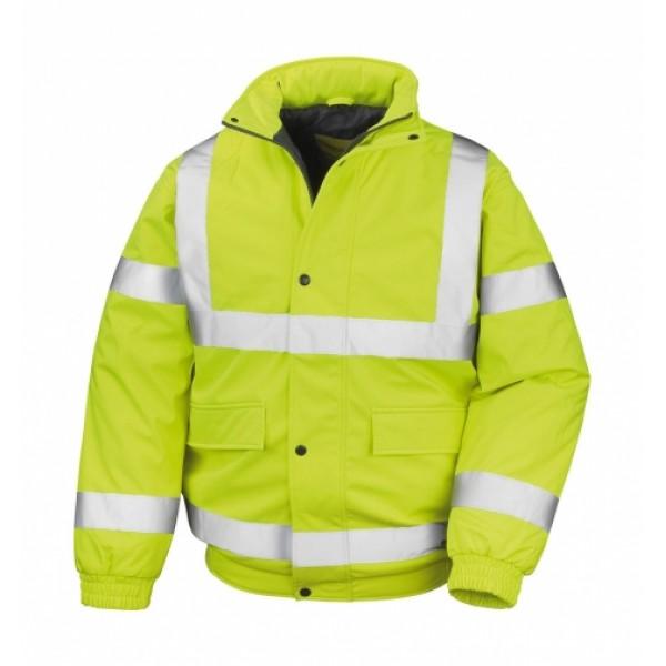 Ενδυση Εργασιας - Μπουφάν Result Safe-Guard, SAFETY PADDED SOFTSHELL BLOUSON R333X κίτρινο φθορίζον Σακάκια - Μπουφάν Ενδυση Εργασιας - nolimit.gr