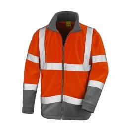 Ενδυση Εργασιας - Μπουφάν Hi-Viz Result Safe-Guard, Safety Microfleece R329X πορτοκαλί φθορίζον/γκρι Σακάκια - Μπουφάν Ενδυση Εργασιας - nolimit.gr
