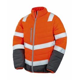 Ενδυση Εργασιας - Μπουφάν Ασφαλείας Hi-Viz Result Safe-Guard, SOFT PADDED R325M πορτοκαλί φθορίζον Σακάκια - Μπουφάν Ενδυση Εργασιας - nolimit.gr