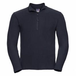 Μπλουζακια Πολο - Μπλούζα Με Φερμουάρ 1/4 Microfleece Russel, R-881M-0 μαύρη Μακρυμάνικα nolimit.gr