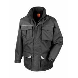 Ενδυση Εργασιας - Μπουφάν Result Work-Guard, SABRE LONG COAT R301X μαύρο Σακάκια - Μπουφάν Ενδυση Εργασιας - nolimit.gr