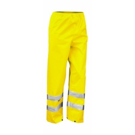Ενδυση Εργασιας - Αδιάβροχο Παντελόνι Result Safe-Guard, R022X κίτρινο φθορίζον Παντελόνια Ενδυση Εργασιας - nolimit.gr