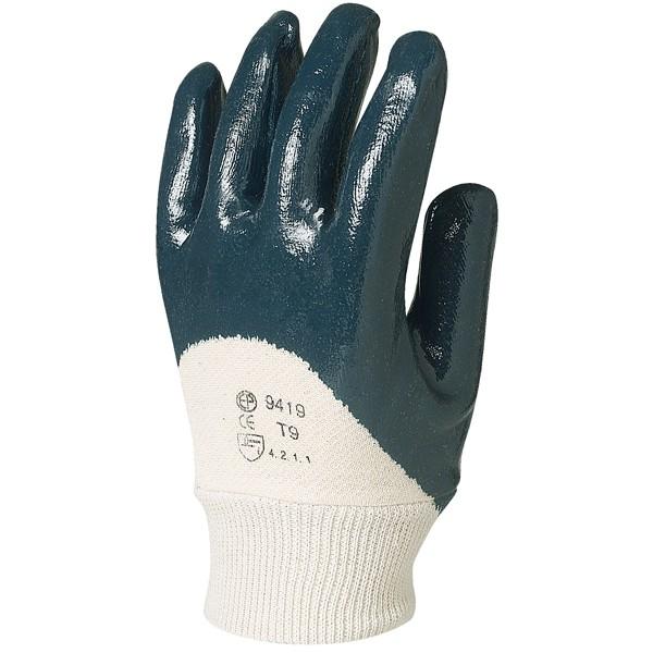 Γαντια προστασιας - Γάντια πλεκτά εμβαπτισμένα σε μπλε νιτρίλιο Eurotechnique, 9420 Νιτριλίου Ενδυση Εργασιας - nolimit.gr