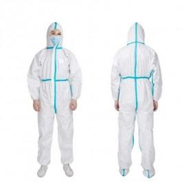 προστασια COVID-19 - Ολόσωμη Φόρμα Προστασίας Ιατρών Νοσηλευτών Πολλαπλών Χρήσεων Από Μη Υφασμένο Υλικό Με Θερμοκολλημένες ραφές, NL206 λευκή Ολόσωμες Ενδυση Εργασιας - nolimit.gr