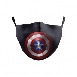 προστασια COVID-19 - Υφασμάτινη Μάσκα Πολλαπλών Χρήσεων 2ply, Captain America NL402 Ενηλίκων Ενδυση Εργασιας - nolimit.gr