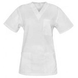 Ιατρών Νοσηλευτών Αισθητικών Μπλούζα UNISEX, λευκή Ιατρικές - Εργαστηρίου Ενδυση Εργασιας - nolimit.gr