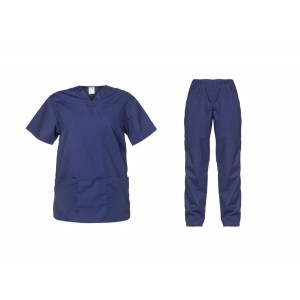 Ιατρών Νοσηλευτών Αισθητικών Σετ Στολή Μπλούζα Παντελόνι Unisex, μπλε σκούρο Ιατρικές - Εργαστηρίου Ενδυση Εργασιας - nolimit.gr