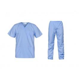 Ιατρών Νοσηλευτών Αισθητικών Στολή Μπλούζα Παντελόνι (Σετ) Unisex, γαλάζιο Ιατρικές - Εργαστηρίου Ενδυση Εργασιας - nolimit.gr