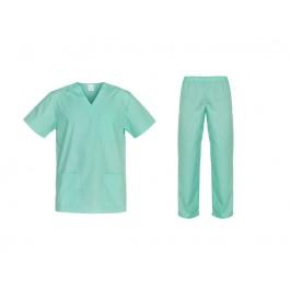 Ιατρών Νοσηλευτών Αισθητικών Στολή Μπλούζα Παντελόνι (Σετ) Unisex, βεραμάν Ιατρικές - Εργαστηρίου Ενδυση Εργασιας - nolimit.gr